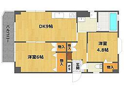 前田マンション[1階]の間取り