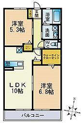 パークハイム横浜鶴見[202号室]の間取り