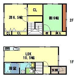 [一戸建] 広島県広島市東区中山西1丁目 の賃貸【/】の間取り