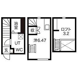 愛知県名古屋市北区山田町4丁目の賃貸アパートの間取り
