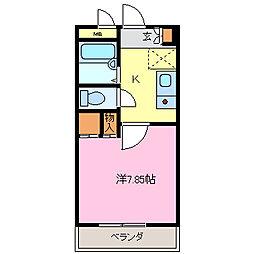 メルベーユHAJIII[203号室]の間取り