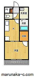 神奈川県相模原市緑区向原3の賃貸アパートの間取り