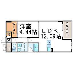 ディアコート野村[2階]の間取り
