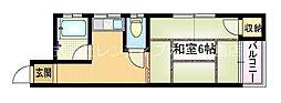 大阪府大阪市旭区大宮4丁目の賃貸マンションの間取り