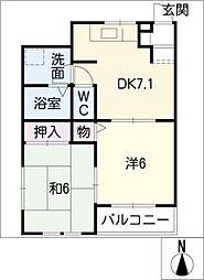 デュオプリメーロB棟[2階]の間取り