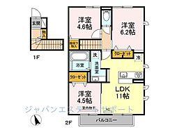 D-room花畑 弐番館[2階]の間取り