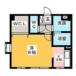 ソレイユ勝川[3階]の間取り