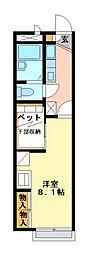 兵庫県加古川市別府町中島町の賃貸アパートの間取り