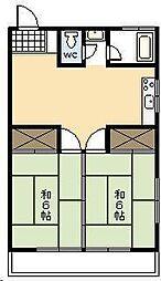 菊池ビル別館[203号室]の間取り