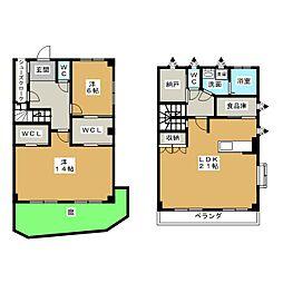 [テラスハウス] 愛知県みよし市黒笹いずみ3丁目 の賃貸【/】の間取り
