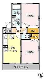 カーサオリーヴァ[2階]の間取り