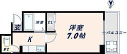 大宝長田ルグラン[203号室]の間取り