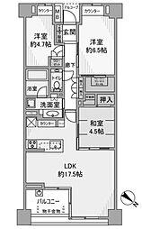 マスターアリーナ新百合ケ丘[7階]の間取り