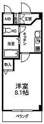 PLAGE HIMURO[205号室]の間取り