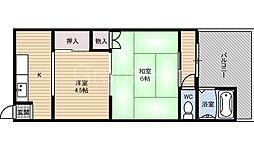 村田マンション[1階]の間取り