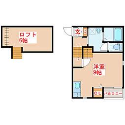FELIZ M&M II[1階]の間取り