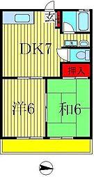 高田田口ハイツ[205号室]の間取り