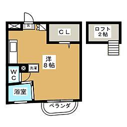 サンメロディ[1階]の間取り