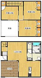 [一戸建] 福岡県久留米市上津2丁目 の賃貸【/】の間取り