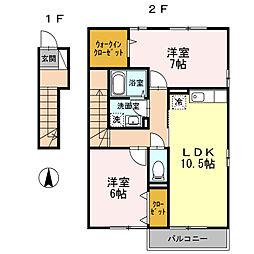 ファミーリェ[2階]の間取り