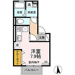 愛知県安城市今池町3丁目の賃貸アパートの間取り