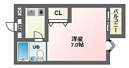 エムロード駒川[3階]の間取り