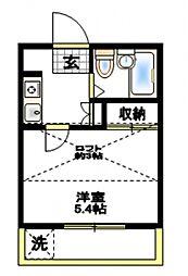 ルミエール横浜[1階]の間取り