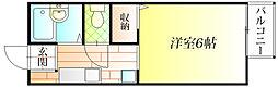 大阪府羽曳野市伊賀1丁目の賃貸アパートの間取り