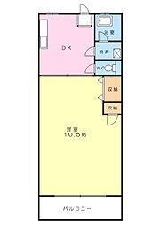 神奈川県横浜市南区高砂町3丁目の賃貸マンションの間取り