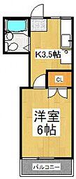 コーポピュアII[2階]の間取り