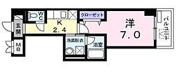 コライユ常盤[307号室]の間取り