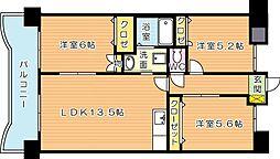 サンディエゴ永野VI[5階]の間取り