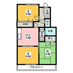コージーコート薫[1階]の間取り