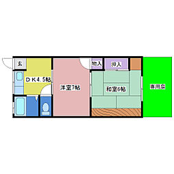 ときわ荘[1階]の間取り