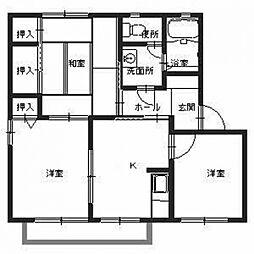 アベリア新家A[2階]の間取り