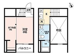 愛知県名古屋市南区明治1丁目の賃貸アパートの間取り