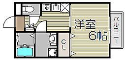 大阪府大阪市西淀川区大和田2丁目の賃貸アパートの間取り