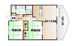 藤本ビルNo.7吉野町[4階]の間取り