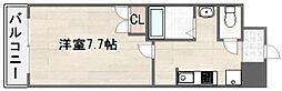 マードレ西宮[410号室]の間取り