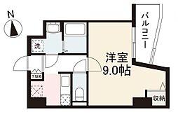 JR高徳線 栗林公園北口駅 徒歩7分の賃貸マンション 8階1Kの間取り