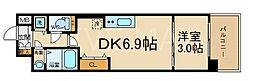THE GARNET MILLENNIUM KYOTO 九条 1階1DKの間取り