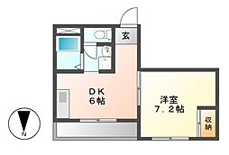 HYマンション[3階]の間取り