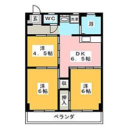 清菱ハイツ[6階]の間取り