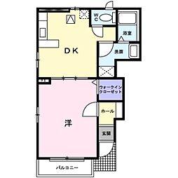 アンソレイエ2[1階]の間取り