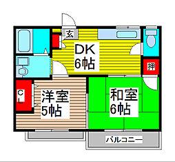 メゾン伊田[1階]の間取り
