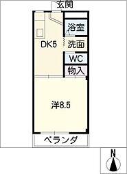 ハイツ樹[1階]の間取り