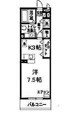 パークハイム参番館B棟[B101号室]の間取り