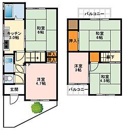 南海高野線 萩原天神駅 徒歩15分の賃貸一戸建て 1階5Kの間取り