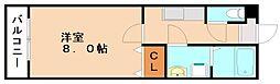 レ—ヴ近大前[2階]の間取り