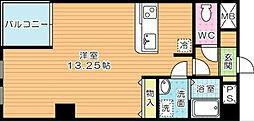 紺二ビル[8階]の間取り